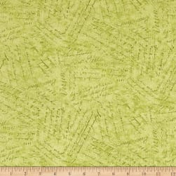 Holiday Meadow Words Green Fabric