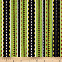 Ready For Take off Stripe Black Fabric