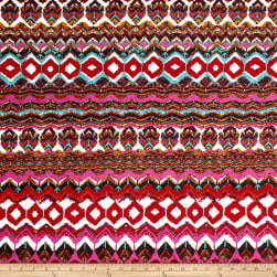 Poly Spandex ITY Knit Ikat Multi Fabric