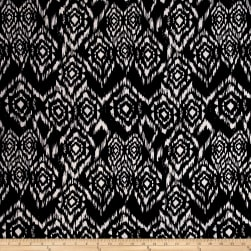 Poly Spandex ITY Knit Abstract Diamond Black/White