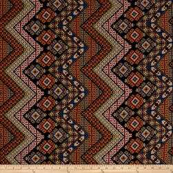 Chiffon Bohemian Chevron Multi Fabric