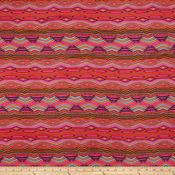 Chiffon Ikat Print Hot Fabric