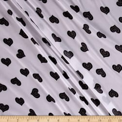 Chiffon Hearts Grey/White