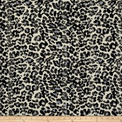 Stretch Lace Cheetah Print Black/Cream Fabric