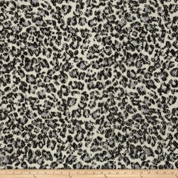 Stretch Lace Cheetah Black/White Fabric