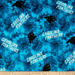 NFL Fleece Carolina Panthers Blue Fabric
