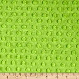 Michael Miller Minky Solid Dot Bright Lime Fabric