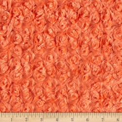 Michael Miller Minky Solid Rosebud Snuggle Orange