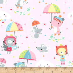 Michael Miller Minky Puddle Play Cupid Fabric
