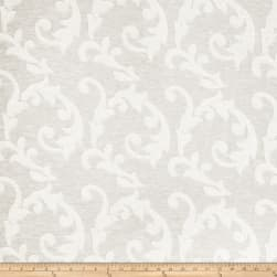 Fabricut Acquire Scroll Linen Blend Ivory Fabric