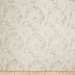 Fabricut Acquire Scroll Linen Blend Taupe Fabric