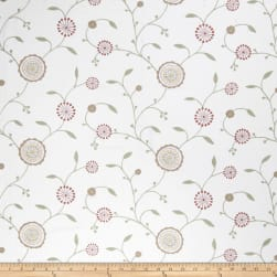 Fabricut Agron Floral Linen Blend Dusty Rose Fabric
