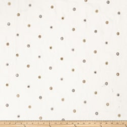Fabricut Ajax Polka Dot Linen Blend Natural Fabric