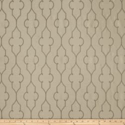 Fabricut Akers Lattice Faux Silk Stone
