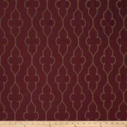 Fabricut Akers Lattice Faux Silk Merlot Fabric