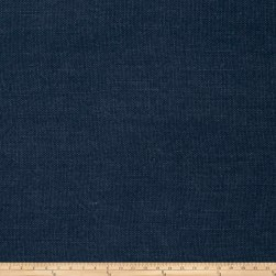 French General Albi Linen Indigo Fabric