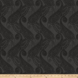 Fabricut Altamura Faux Silk Black Smoke Fabric