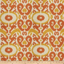 Fabricut Any Man Linen Blend Tangerine Fabric
