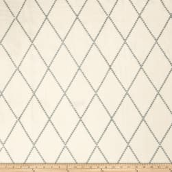 Fabricut Argea Diamond Linen Blend Lagoon Fabric
