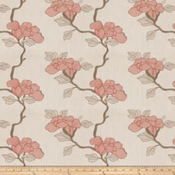 Mount Vernon Asian Floral Linen Blend Lacquer Fabric
