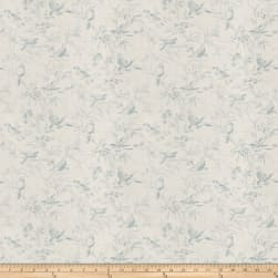 French General Aviary Toile Linen Blend Chambray