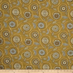 Fabricut Banyon Tree Jacquard Lemon Curry Fabric