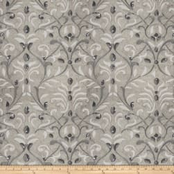 Fabricut Basinger Leaves Silk Pewter Fabric