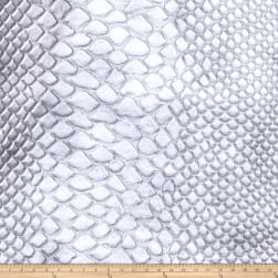 Fabricut Brass Alloy Faux Leather Silver Fabric