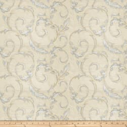 Fabricut Britton Leaves Silk Porcelain Fabric