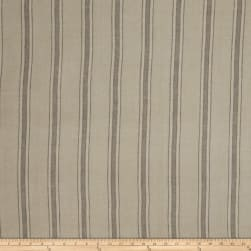 Fabricut Buffet Stripe Linen Blend Taupe Fabric