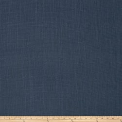 French General Cassis Linen Blend Indigo Fabric