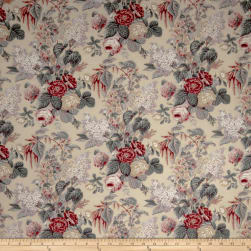 Charlotte Moss Claire Red Eden Fabric
