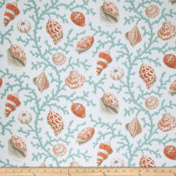 Fabricut Coral And Shells Outdoor Coral Fabric