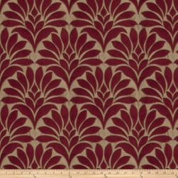 Fabricut Crespo Leaves Faux Silk Cardinal Fabric
