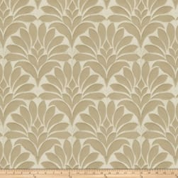 Fabricut Crespo Leaves Faux Silk Beige Fabric