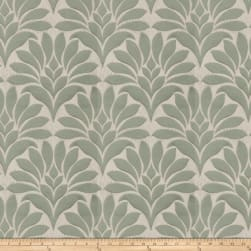 Fabricut Crespo Leaves Faux Silk Jade Fabric