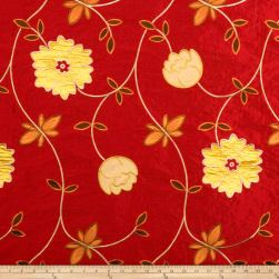 Fabricut Dempsey Silk Exotic Red Fabric