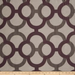 Fabricut Diego Lattice Faux Silk Plum Fabric