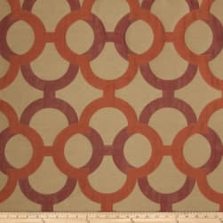 Fabricut Diego Lattice Faux Silk Tango Fabric