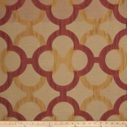 Fabricut Diego Lattice Faux Silk Spice Fabric