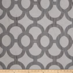Fabricut Diego Lattice Faux Silk Charcoal Fabric