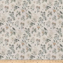 French General Fleur Botanical La Mer Fabric