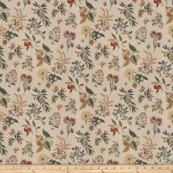 French General Fleur Botanical Sienna Fabric