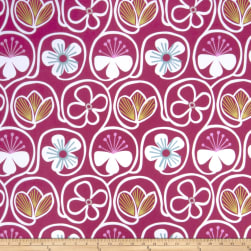 Fabricut Flower Power Raspberry Fabric