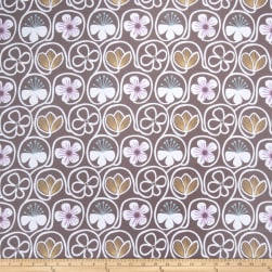 Fabricut Flower Power Chocolate Fabric