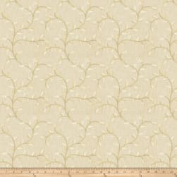 Fabricut Gale Leaves Linen Blend Champagne Fabric