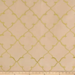 Fabricut Gladys Lattice Taffeta Champagne Fabric