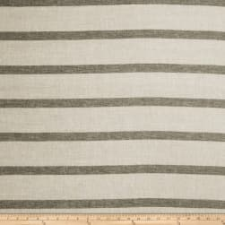 Fabricut Havre Stripe Linen Blend Grey Fabric