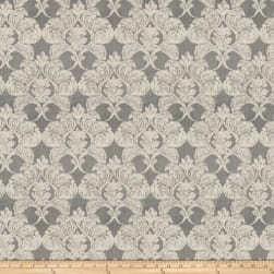Fabricut Hurley Damask Silk Pewter Fabric