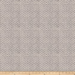 French General Ikat Pointe Coal Fabric